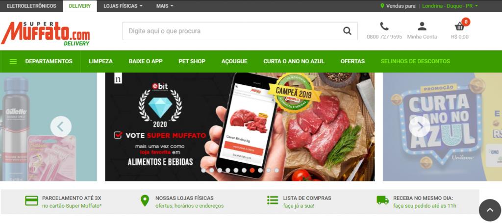 aplicativos de supermercado Muffato